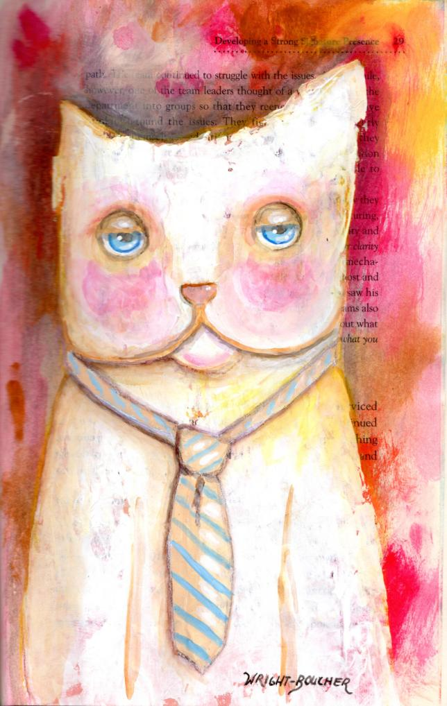 Business As Usual © Susan Wright-Boucher - Mixed media susanwrightboucher.wordpress.com